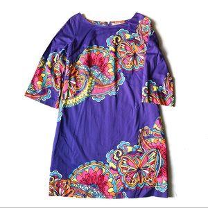 Lilly Pulitzer Purple Butterflies Shift Dress 14